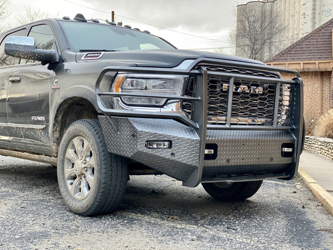 2019 2020 RAM 2500 3500 4500 5500 Elite Series, Front Camera, Front Sensors, Cattle Guard, TS bumper, Thunder Struck Bumper, Ranch Hand, Diamond, Tread, front bumper